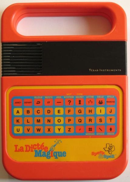 La dictée magique, un jouet éducatif Texas Instruments